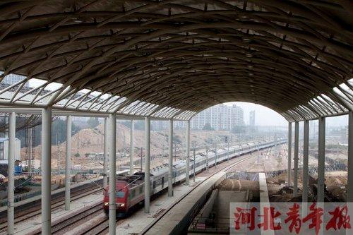 石家庄火车站建设 石家庄新客站现雏形 石家庄铁路