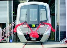 石家庄地铁3号线首列车