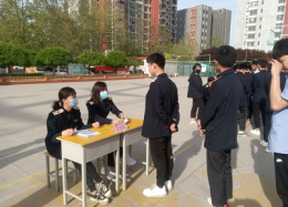 石家庄铁路学校2021春学生会纳新现场