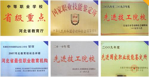 石家庄铁路职业技工学校荣誉 石家庄铁路技校简介 学校概况 第1张