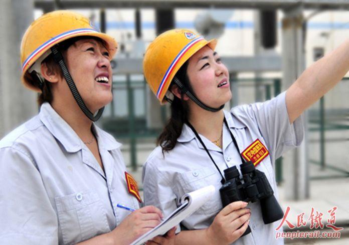 嘉峪关供电段辖区变电所女工 工务段焊补打磨和女工 资料 第2张