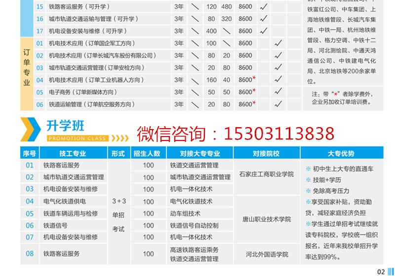 石家庄铁路学校招生简章 石家庄铁路技校2019年招生有哪些专业? 招生信息 第2张