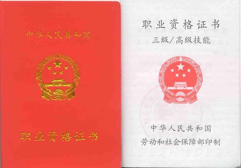 国家职业资格证书样式?如何进行职业技能鉴定? 资料 第3张